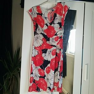 Size 14 Evan-Picone partial wrap dress.